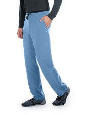"Pantalon médical homme, collection ""Barco One Wellness"" (BWP508-) ciel face"