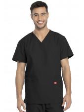 Ensemble médical Blouse et Pantalon, Unisexe, Dickies (DKP520C) noir blouse homme face
