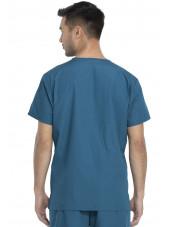 Ensemble médical Blouse et Pantalon, Unisexe, Dickies (DKP520C) vert caraibe blouse homme dos