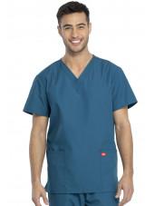Ensemble médical Blouse et Pantalon, Unisexe, Dickies (DKP520C) vert caraibe blouse homme face