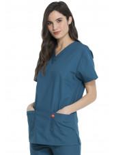Ensemble médical Blouse et Pantalon, Unisexe, Dickies (DKP520C) vert caraibe blouse femme coté