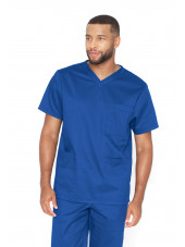 "Blouse médicale Unisexe, collection ""Barco One Essentials"" (BE002) bleu royal"