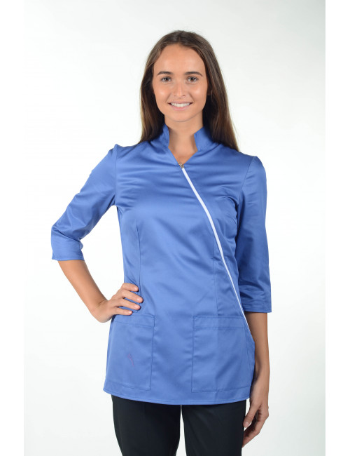 """Medical gown ecological fabric, snaps, """"Marsiglia"""", PASTELLI"""