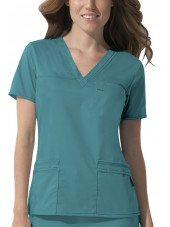 """Blouse Médicale Femme, Dickies, Collection """"GenFlex"""" (817455) teal blue face"""