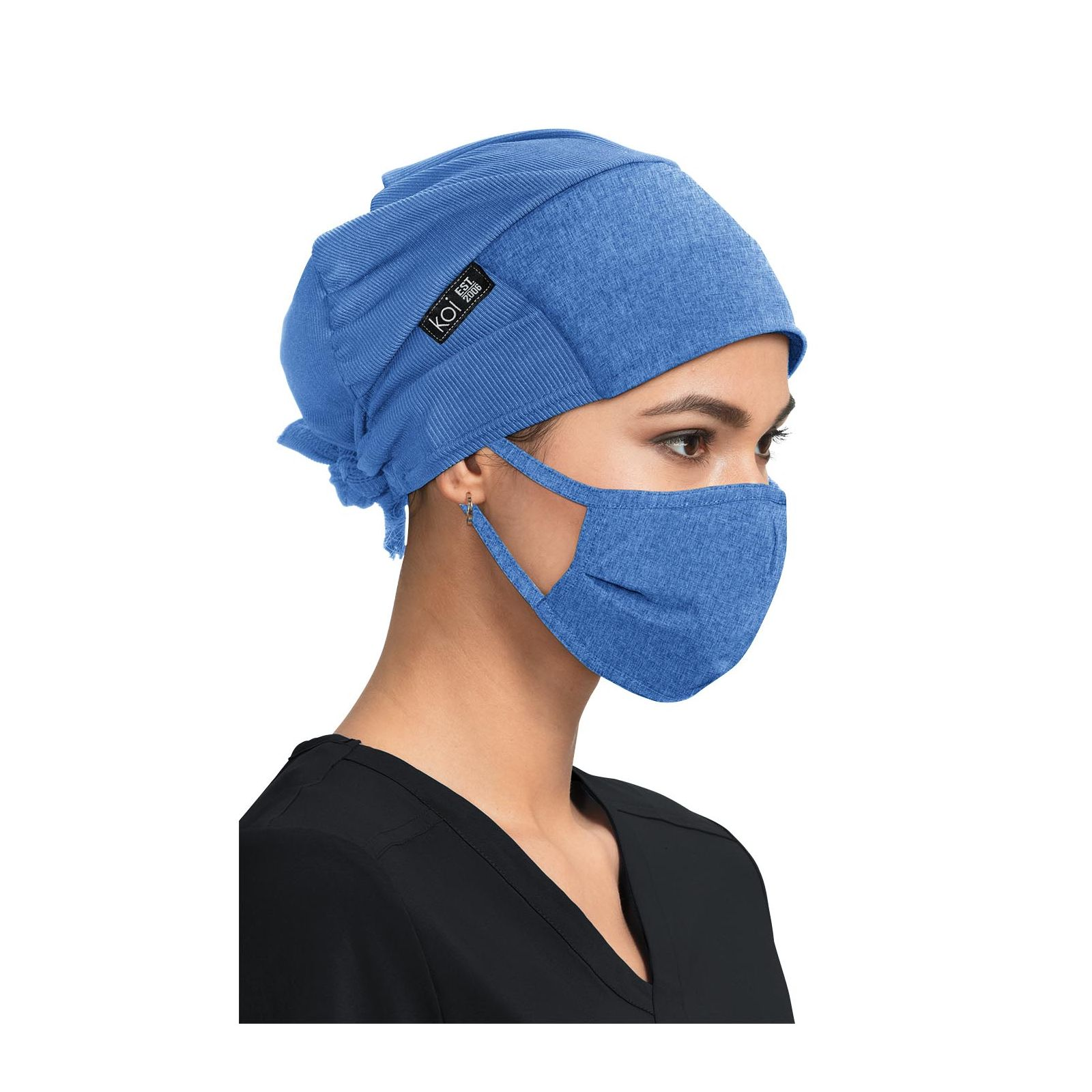 Calot Unisexe Koi Bleu Chiné (A161) vue femme