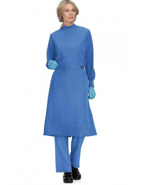 Surblouse lavable Bleu Chiné Unisexe, Koi (906-130)