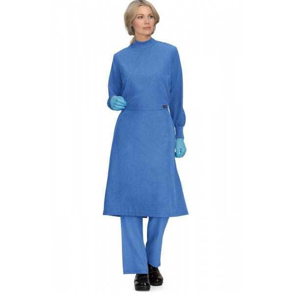 Surblouse lavable Bleu Chiné Unisexe, Koi (906-130) face