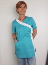 """Blouse médicale Stretch, cache coeur, CMT, Collection """"Stretch bicolore"""" (2614)"""