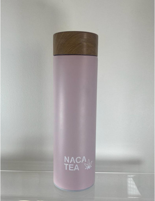 Bouteille thermos-infuseur rose, Nacatea (BTLNACA-ROS) face