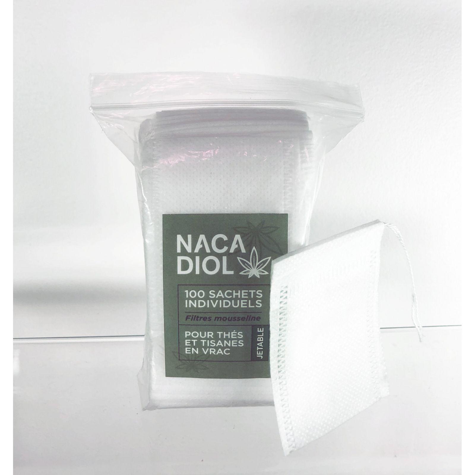 Pack de 100 Sachets jetables à remplir pour infusion, Nacatea (SACHNACA100) vue pack