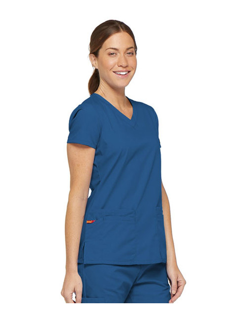 """Blouse médicale Col V Femme, Dickies, 2 poches, Collection """"EDS signature"""" (85906) royal"""
