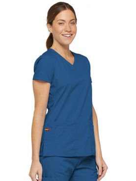 """Women's V-Neck Medical Blouse, Dickies, 2 pockets, """"EDS Signature"""" Collection (85906)"""