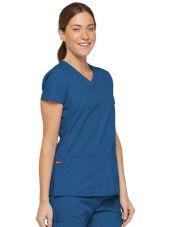 "Blouse médicale Col V Femme, Dickies, 2 poches, Collection ""EDS signature"" (85906) royal"