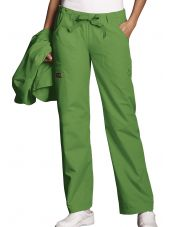 Pantalon médical Femme cordon et élastique, Cherokee Workwear Originals (4020) vert aloe vue de face