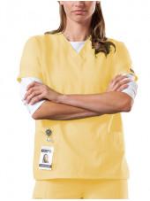 Blouse médicale Femme, 2 poches, Cherokee Workwear Originals (4700) jaune femme face