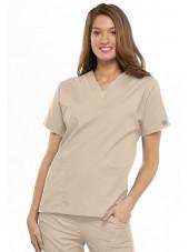Blouse médicale Femme, 2 poches, Cherokee Workwear Originals (4700) beige face