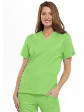 Blouse médicale Femme, 2 poches, Cherokee Workwear Originals (4700) vert citron face