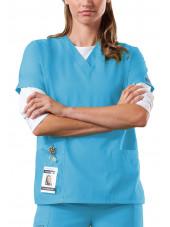 Blouse médicale Femme, 2 poches, Cherokee Workwear Originals (4700) malibu face