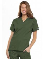 Blouse médicale Femme, 2 poches, Cherokee Workwear Originals (4700) vert olive face