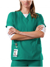 Blouse médicale Femme, 2 poches, Cherokee Workwear Originals (4700) surgical green face