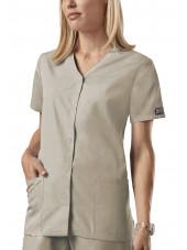 Blouse médicale Femme boutons pression, Cherokee Workwear Originals (4770) beige vue face