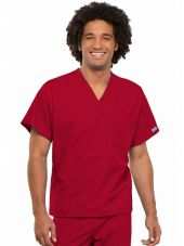 Blouse médicale Homme, 1 poche, Cherokee Workwear Originals (4777) rouge vue face
