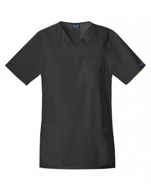Blouse médicale Homme, 3 poches, Cherokee Workwear Originals (4701) noir vue face