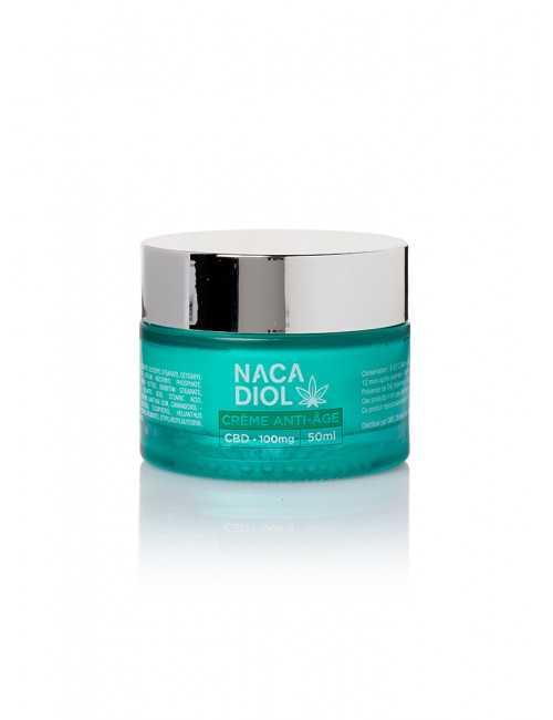 Crème anti-âge au CBD, Nacadiol (CRNACAAG) vue fermée