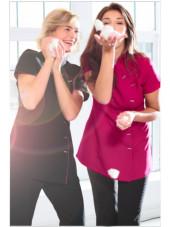 """Blouse de travail Femme """"Fleur"""", Clinic dress rose ambiance"""