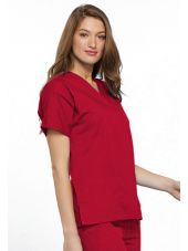 Blouse médicale Femme, 2 poches, Cherokee Workwear Originals (4700) rouge droite