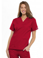 Blouse médicale Femme, 2 poches, Cherokee Workwear Originals (4700) rouge face