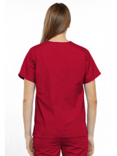 Blouse médicale Femme, 2 poches, Cherokee Workwear Originals (4700) rouge dos