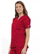 Blouse médicale Femme, 2 poches, Cherokee Workwear Originals (4700) rouge gauche