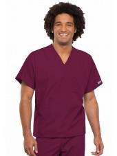 Blouse médicale Homme, 1 poche, Cherokee Workwear Originals (4777) bordeaux face