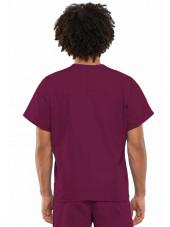 Blouse médicale Homme, 1 poche, Cherokee Workwear Originals (4777) bordeaux gauche