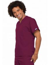Blouse médicale Homme, 1 poche, Cherokee Workwear Originals (4777) bordeaux droite