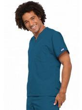 Blouse médicale Homme, 1 poche, Cherokee Workwear Originals (4777) caraibe droite