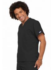 Blouse médicale Homme, 1 poche, Cherokee Workwear Originals (4777) noir gauche