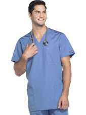 Blouse médicale Homme, 3 poches, Cherokee Workwear Originals (4876) ciel droite