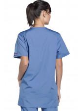 Blouse médicale Femme, 3 poches, Cherokee Workwear Originals (4876) ciel dos