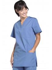Blouse médicale Femme, 3 poches, Cherokee Workwear Originals (4876) ciel droite