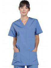 Blouse médicale Femme, 3 poches, Cherokee Workwear Originals (4876) ciel face