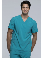 """Blouse Médicale Homme Antibactérienne Cherokee, Collection """"Infinity"""" (CK900A) teal face"""