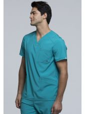 """Blouse Médicale Homme Antibactérienne Cherokee, Collection """"Infinity"""" (CK900A) teal droite"""