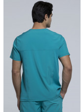 """Blouse Médicale Homme Antibactérienne Cherokee, Collection """"Infinity"""" (CK900A) teal dos"""