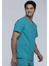 """Blouse Médicale Homme Antibactérienne Cherokee, Collection """"Infinity"""" (CK900A) teal gauche"""