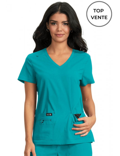 "Blouse médicale Femme Koi ""Becca"", collection Koi Basics (373-) top"