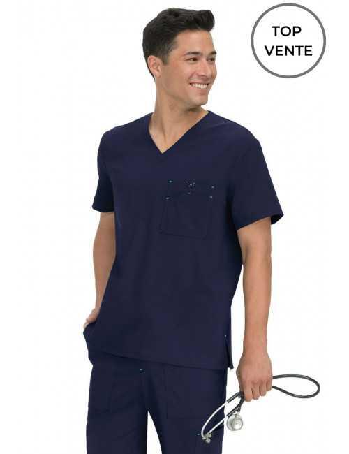 "Blouse médicale Homme Koi ""Bryan"", collection Koi Basics (668) top"