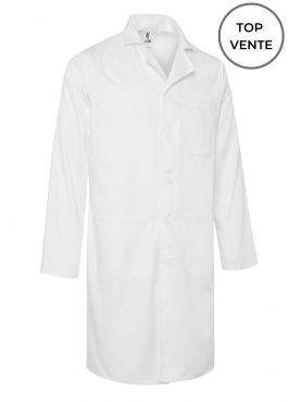 Blouse médicale Blanche Unisexe, manches longues (WALTER) top