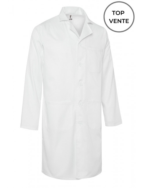 White Unisex Medical Gown, Long Sleeve (WALTER)